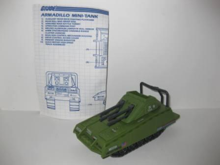 Armadillo Mini-Tank (1985) w/ Inst - G.I. Joe